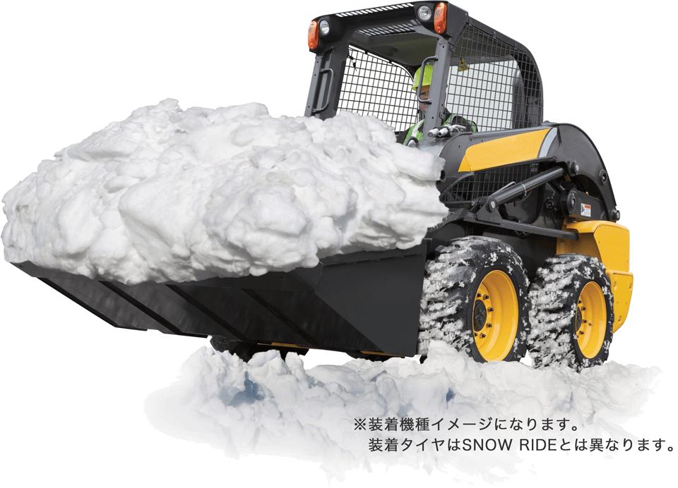 SNOW TRAC 装着写真